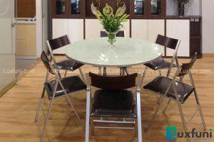 Ghế ăn C3332 đen kết hợp bàn ăn thông minh mở rộng-nâng hạ B2252-1
