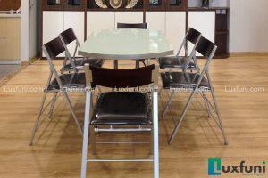 Ghế ăn C3332 đen kết hợp bàn ăn thông minh mở rộng-nâng hạ B2252