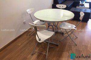 Ghế ăn C3391 kết hợp bàn ăn thông minh mở rộng-nâng hạ B2252-1