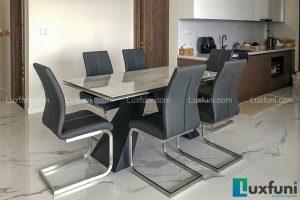 Ghế ăn C394 kết hợp bàn ăn thông minh mặt đá T839-Chị Lý-Tòa S2, Sunshine City, Phạm Văn Đồng-1