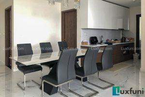 Ghế ăn C394 kết hợp bàn ăn thông minh mặt đá T839-Chị Lý-Tòa S2, Sunshine City, Phạm Văn Đồng-2