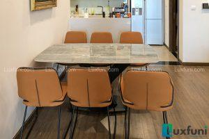 Ghế ăn D111 kết hợp bàn ăn mặt đá T261-Bác Hùng-Tòa T2, Số 3 Lương Yên