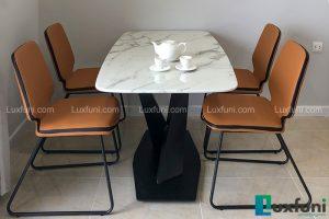 Ghế ăn D111 kết hợp bàn ăn mặt đá trắng hoa cương T261-Anh Lượng-Tòa C2, D'Capital, Trần Duy Hưng-1