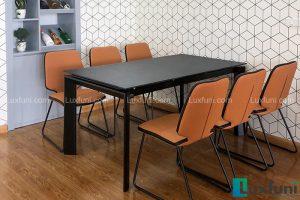 Ghế ăn D111 kết hợp bàn ăn mặt gốm 7082-Anh Vũ-Tòa A, 82 Nguyễn Tuân