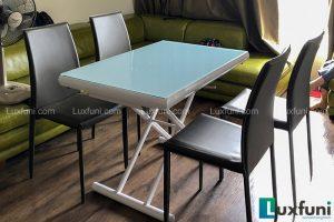 Ghế ăn MS01 kết hợp bàn ăn thông minh mở rộng-nâng hạ B2422-2