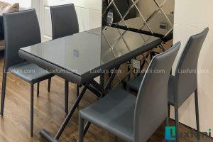 Ghế ăn MS01 kết hợp bàn ăn thông minh mở rộng-nâng hạ B2422