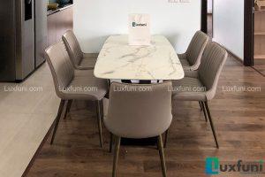 Ghế ăn TC5138 kết hợp bàn ăn mặt đá T261-Anh Huân-Tòa CT2, chung cư Hateco Xuân Phương, Nam Từ Liêm-1