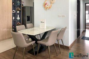 Ghế ăn TC5138 kết hợp bàn ăn mặt đá T261-Anh Huân-Tòa CT2, chung cư Hateco Xuân Phương, Nam Từ Liêm-2