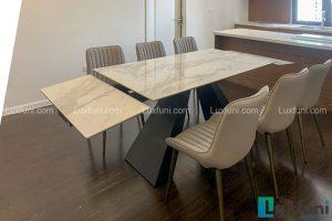 Ghế ăn TC5138 kết hợp bàn ăn thông minh mặt đá T839-Cô Nhung-Tòa A, Imperia Sky Garden, 423 Minh Khai