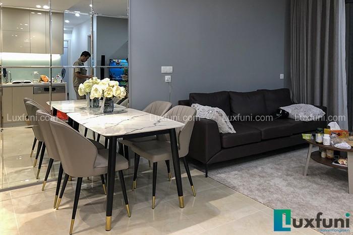 Ghế ăn Y209 kết hợp bàn ăn mặt đá C6-Chị Trang-Tòa C1, D'Capital, Trần Duy Hưng