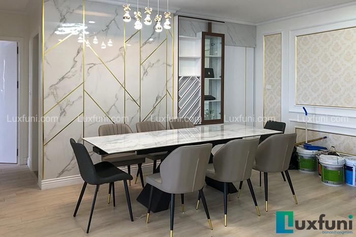 Ghế ăn Y209 kết hợp bàn ăn thông minh T839 mặt đá-Chị Nhàn-Tòa V3, Chung cư Victoria, Văn Phú, Hà Đông-2