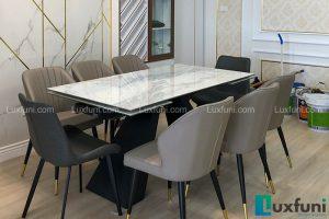 Ghế ăn Y209 kết hợp bàn ăn thông minh T839 mặt đá-Chị Nhàn-Tòa V3, Chung cư Victoria, Văn Phú, Hà Đông