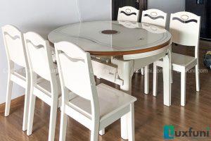 Ghế ăn Y8319 kết hợp bàn ăn bếp từ T1718-Chú Hùng, Tòa B, Chung cư Gamuda, Yên Sở-1