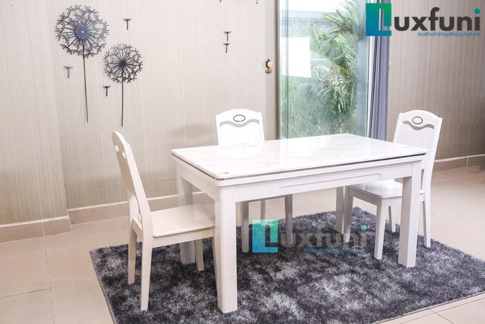 3 Mẫu bàn ăn mặt đá 4 ghế đẹp có giá dưới 10 triệu đồng-3