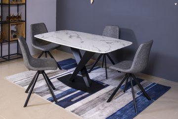 Bộ bàn ăn T261 đá hoa cương xuyên sáng-4