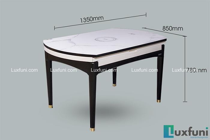 Bộ bàn ăn gỗ mặt kính T1959 giá TỐT nhất-1