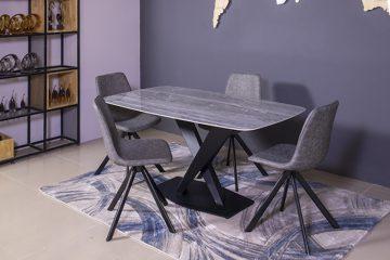 Bộ bàn ăn hiện đại UK T261 (kèm 4 ghế)-5