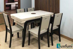 Ghế ăn A16 kết hợp bàn ăn bếp từ T1958-Chị Thu-Tòa S2, Gold Mark City, 136 Hồ Tùng Mậu