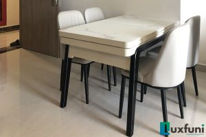 Ghế ăn A6 kết hợp bàn ăn bếp từ T1958-Chị Hiền-Tòa S2.16, Vinhomes Ocean Park-1