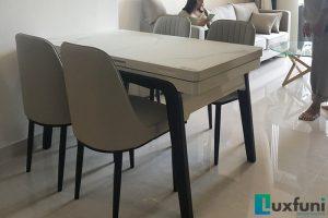 Ghế ăn A6 kết hợp bàn ăn bếp từ T1958-Chị Hiền-Tòa S2.16, Vinhomes Ocean Park