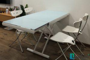 Ghế ăn C3391 kết hợp bàn ăn thông minh mở rộng-nâng hạ B2422-Chị Nhung-Tòa CT2, Chung cư Hateco, Xuân Phương, Nam Từ Liêm