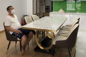 Ghế ăn D103 kết hợp bàn ăn mặt đá 075#-Chú Dũng-Tòa R2B, Royal City-2