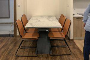 Ghế ăn D111 kết hợp bàn ăn T839 mặt đá-Anh Tuấn-Tòa Golden Palm, Chung cư 21 Lê Văn Lương-2