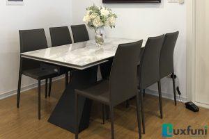Ghế ăn MS01 kết hợp bàn ăn thông minh T839 mặt đá-Anh Dinh-Tòa CT2, X2, Bắc Linh Đàm-1