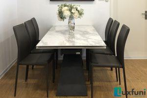 Ghế ăn MS01 kết hợp bàn ăn thông minh T839 mặt đá-Anh Dinh-Tòa CT2, X2, Bắc Linh Đàm-2