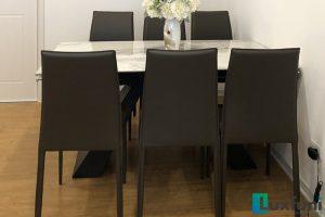 Ghế ăn MS01 kết hợp bàn ăn thông minh T839 mặt đá-Anh Dinh-Tòa CT2, X2, Bắc Linh Đàm