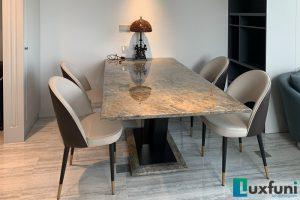 Ghế ăn TC5125 kết hợp bàn ăn mặt đá Vivi TC8189-Anh Hà-Tòa Penstudio, 699 Lạc Long Quân