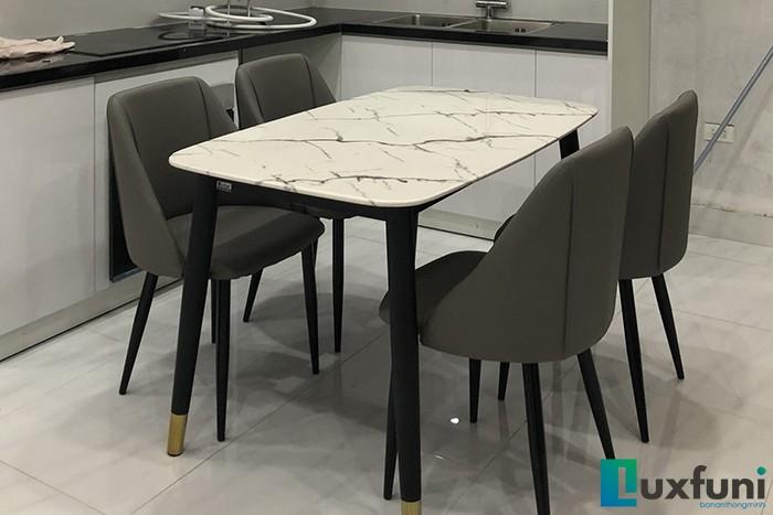 Ghế ăn Y237 kết hợp bàn ăn mặt đá C6-Anh Tiến-Khâm Thiên, Hà Nội