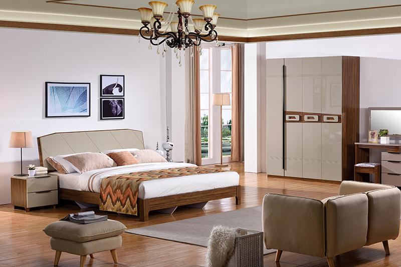 Bộ giường ngủ hiện đại BOF 362#-2