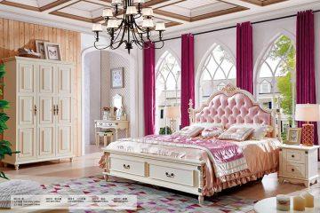 Giường ngủ tân cổ điển Bắc Mỹ 8613-1