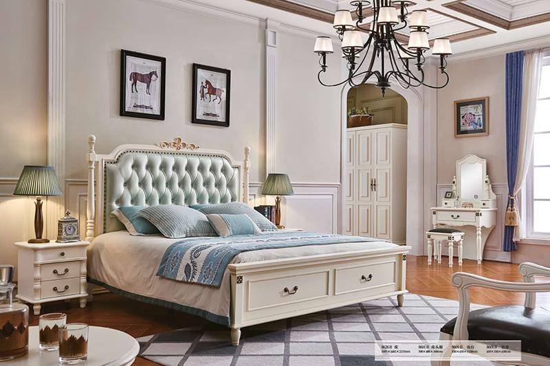 Giường ngủ tân cổ điển Bắc Mỹ 8626