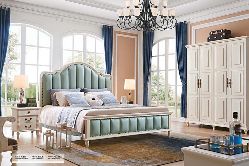 Giường ngủ tân cổ điển Bắc Mỹ 8628