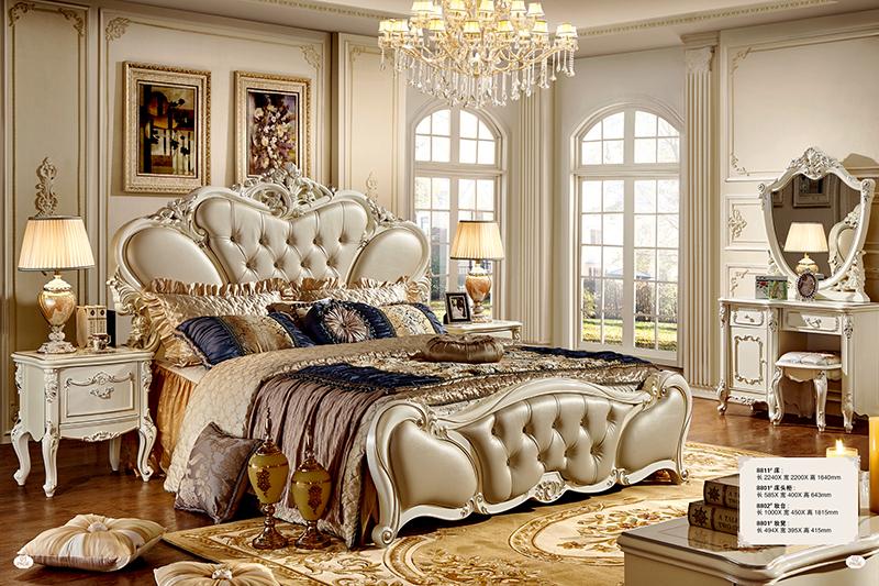 Giường ngủ Tommy sơn ngọc trai 8811X-2