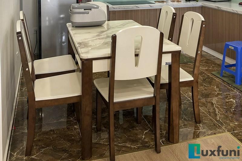 Hình ảnh thực tế bàn ăn mặt đá A10-3