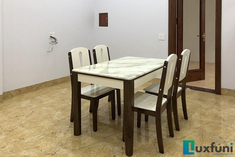 Hình ảnh thực tế bàn ăn mặt đá A10-6