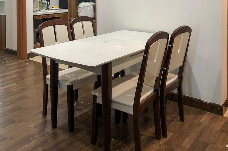 Hình ảnh thực tế bàn ăn thông minh bếp từ 870-11-1