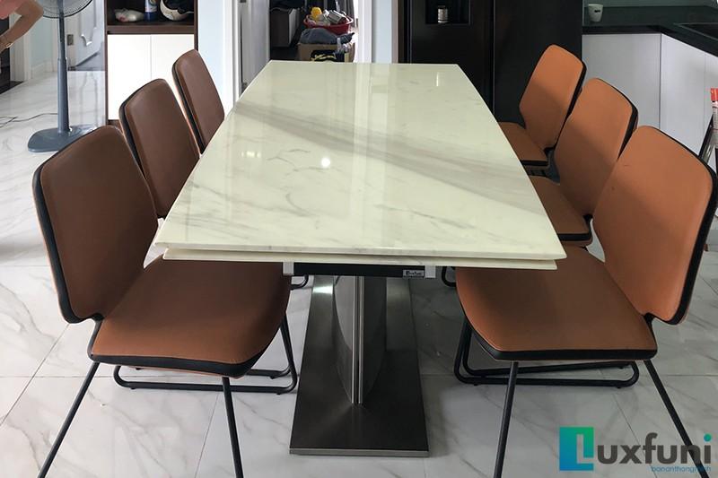 Hình ảnh thực tế bàn ăn thông minh mặt đá T809-11