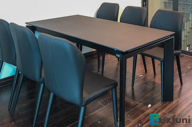 Hình ảnh thực tế bàn ăn thông minh mặt gốm 7082-5