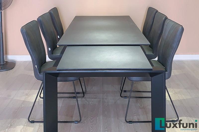 Hình ảnh thực tế bàn ăn thông minh mặt gốm 7082-8