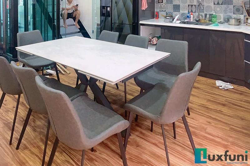 Hình ảnh thực tế bàn ăn thông minh mặt gốm Ceramic T853-8
