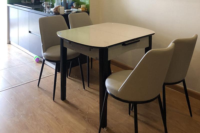 Hình ảnh thực tế bàn ăn thông minh mở rộng B68-11