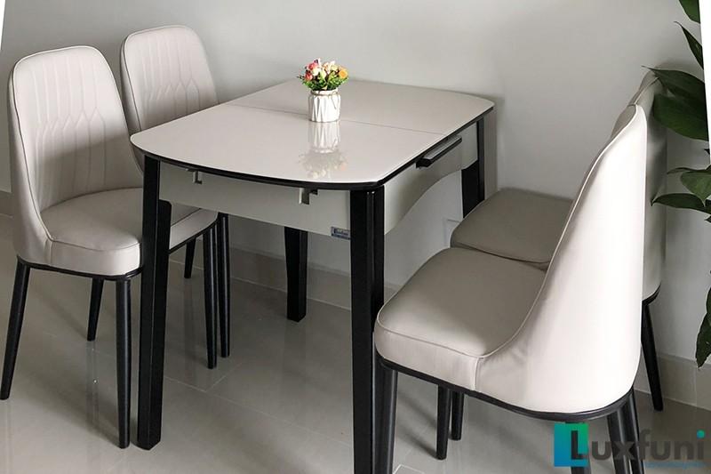 Hình ảnh thực tế bàn ăn thông minh mở rộng B68-3