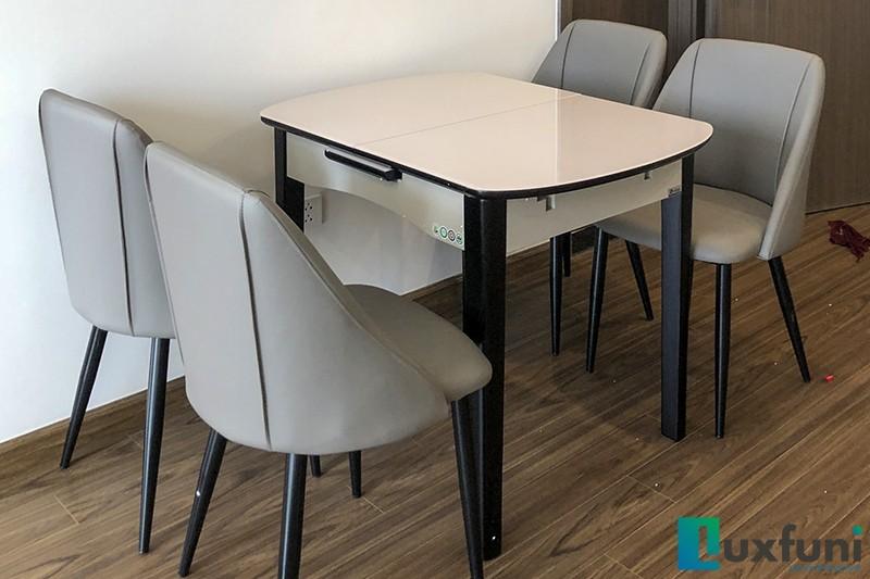 Hình ảnh thực tế bàn ăn thông minh mở rộng B68-5