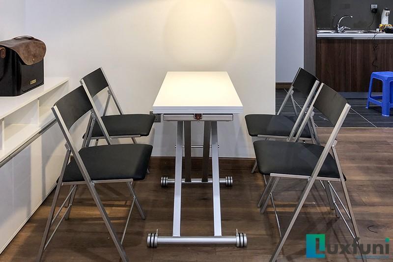 Hình ảnh thực tế bàn ăn thông minh mở rộng-nâng hạ B2166-1