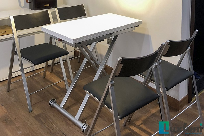 Hình ảnh thực tế bàn ăn thông minh mở rộng-nâng hạ B2166-2