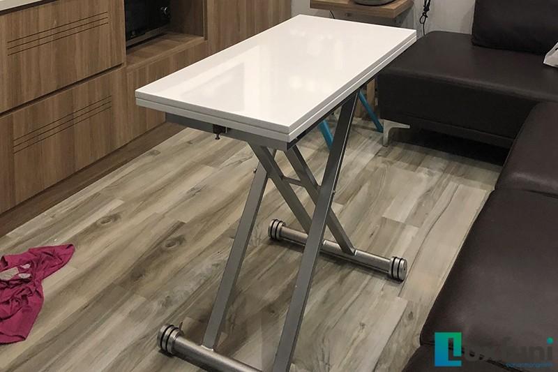 Hình ảnh thực tế bàn ăn thông minh mở rộng-nâng hạ B2166-3